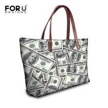 2016 Original Brand Weibliche Big Bags Dollar Drucken Damenmode Handtaschen Große Kapazität Casual Frauen Taschen Schulter Tote Taschen