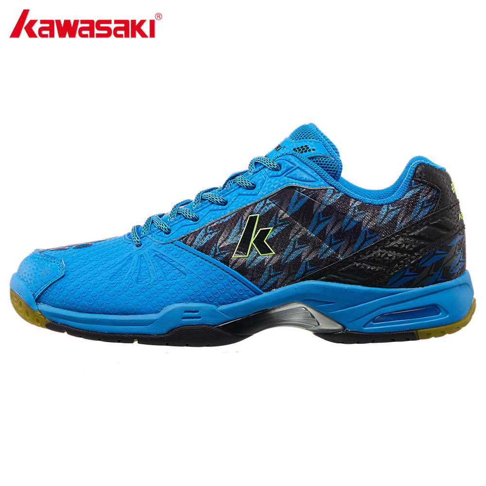 Kawasaki Badminton Court Shoes Professional Men Women Sports Shoes Brand Sneakers Anti-torsion Anti-Slippery Comfortable K-519 100% original kawasaki badminton shoes men and women badminton training shoes whirlwind series k 515 516