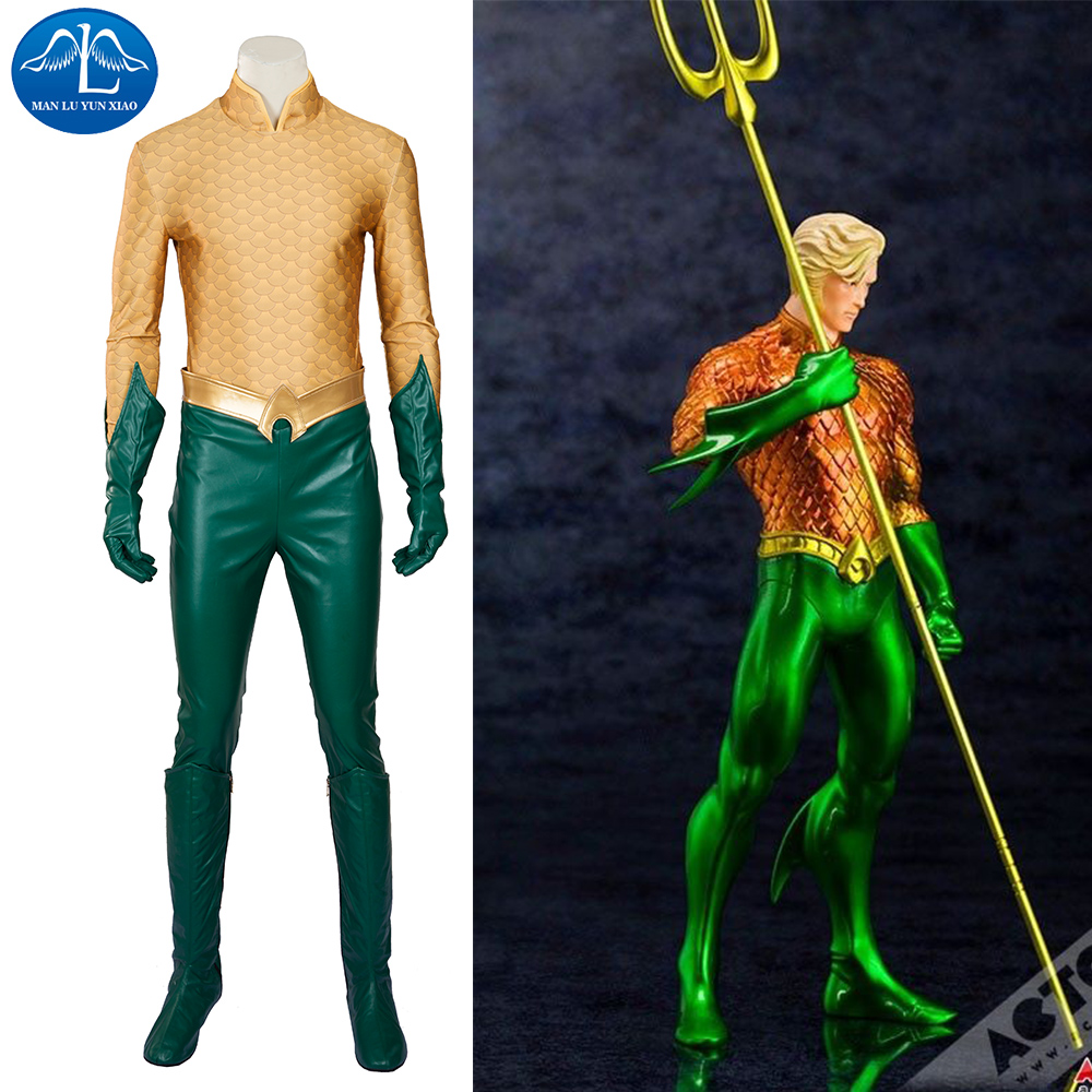 MANLUYUNXIAO New Men Aquaman Costume Arthur Curry Orin Cosplay Costume Halloween Costumes for Men Custom Made