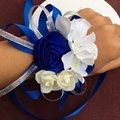 10pcs/lot high quality tiffany blue wedding wrist hand flowers bride bridesmaids wrist corsages groom corsages boutonniere white