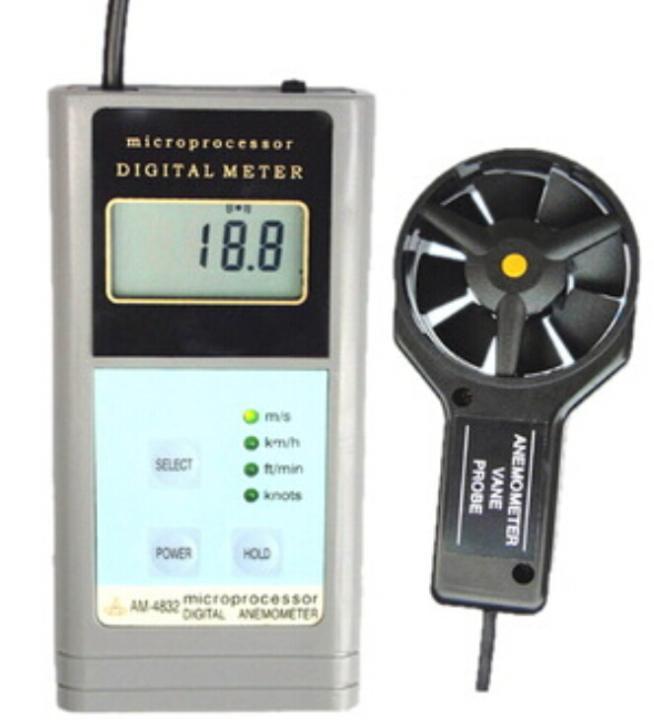 Digital Anemometer AM-4832 Handheld Wind Speed Meter Arir Flow Meter AM4832