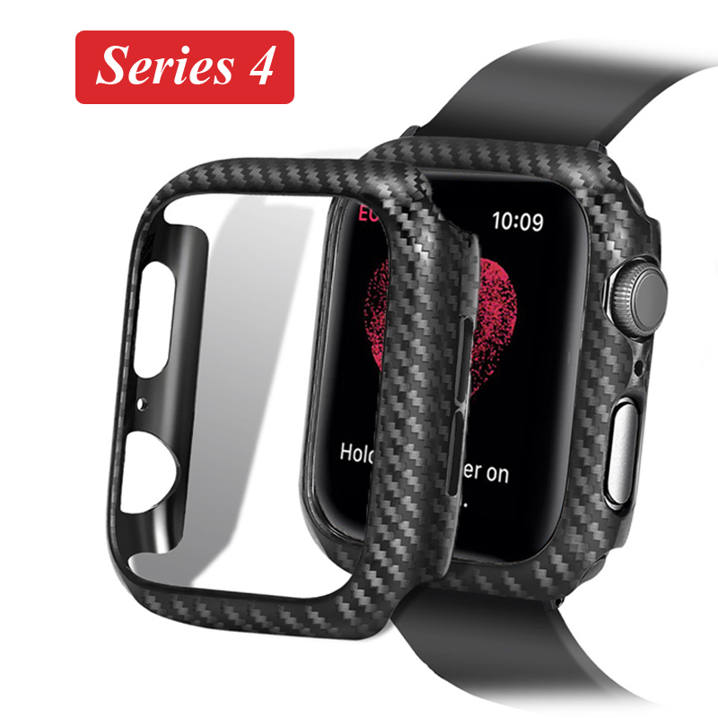44mm 40mm Frame Carbon Protective Case For Apple Watch 4 5 3 42mm 38mm Watch Cover Bumper For Iwatch Series 3 2  Accessories