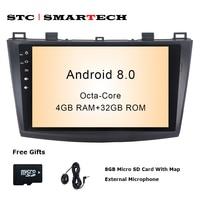 SMARTECH 2 Din Android 8 0 OS Car Radio GPS Navigation For Mazda 3 Axela 9