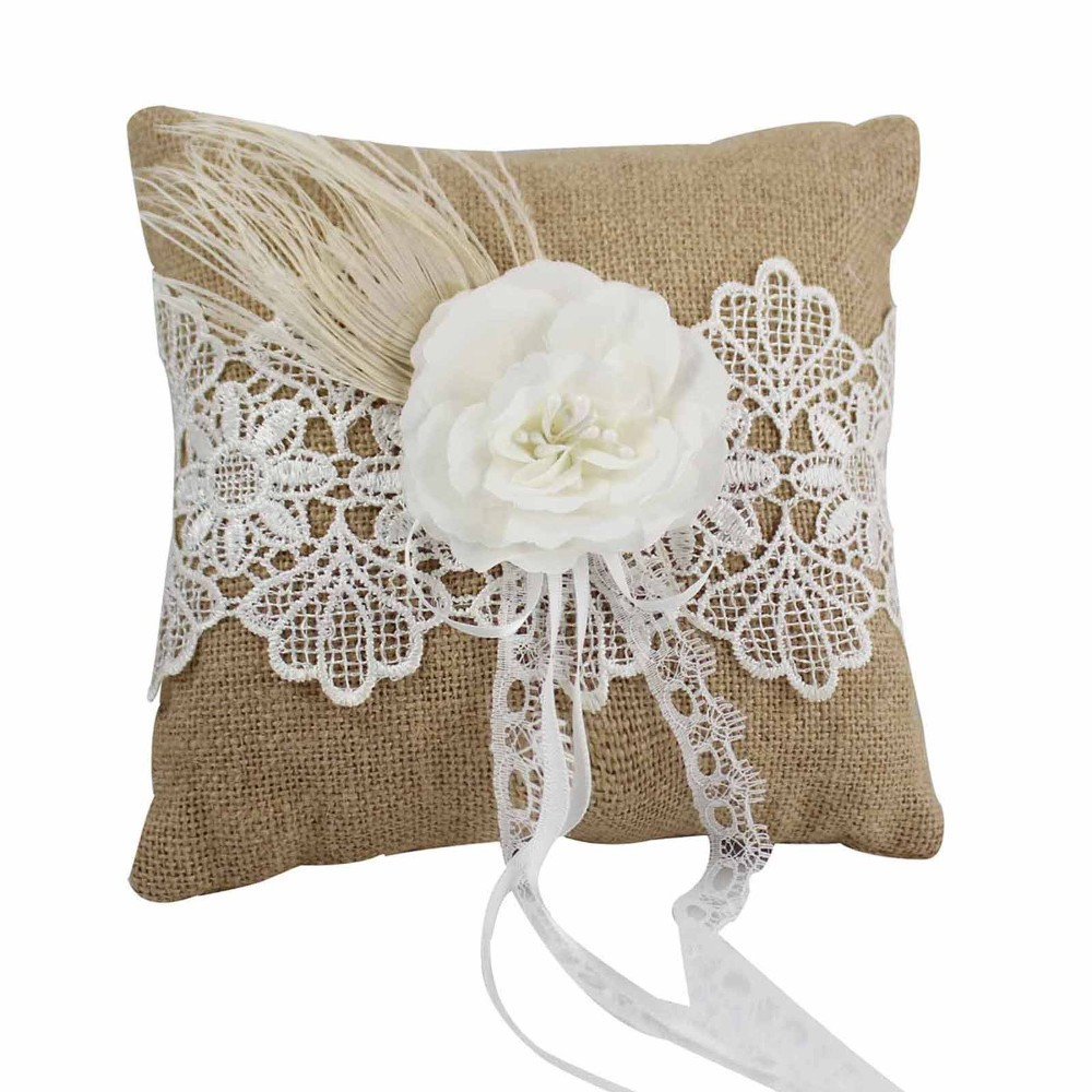pillow cushion ivory il brooch lace ring fullxfull products bearer wedding