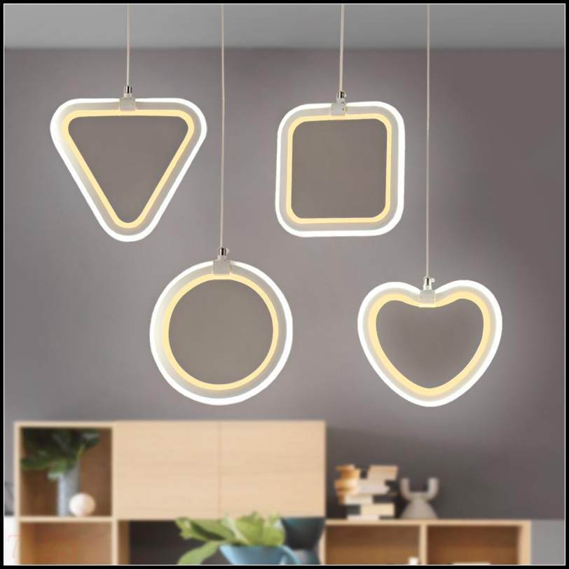 modern Originality minimalist restaurant living room bedroom bar office geometry LED pendant lights  pvc LO842modern Originality minimalist restaurant living room bedroom bar office geometry LED pendant lights  pvc LO842