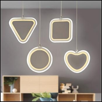 modern Originality minimalist restaurant living room bedroom bar office geometry LED pendant lights  pvc LO842