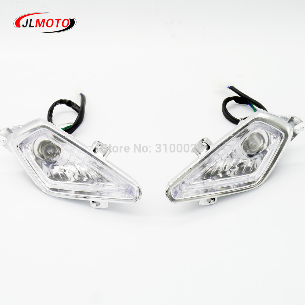 2pcs Motorcycle Atv Quad Head Lights Lamps Headlight For 110cc 125cc 200cc Durable Modeling Atv Parts & Accessories