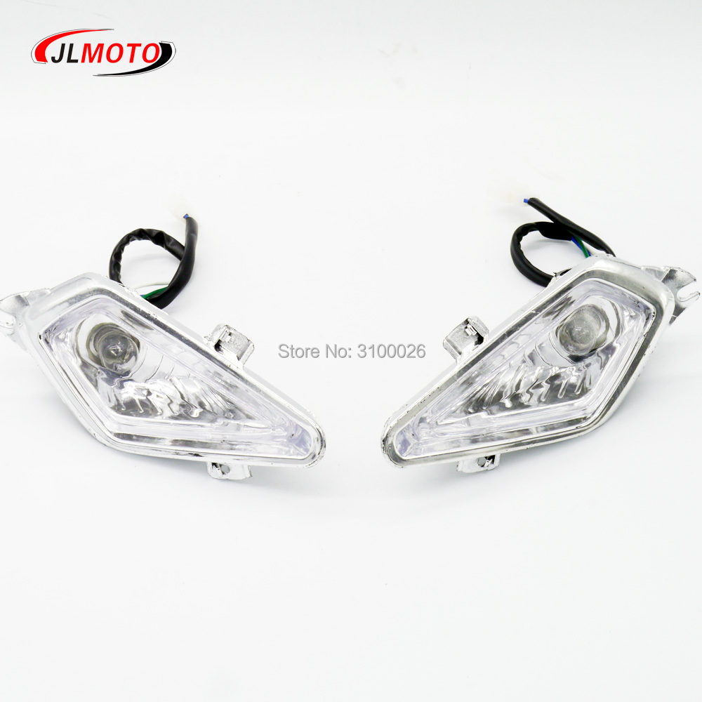 1Pair/2pcs Front Light Of Jinling Actionbikes Nirtro 50cc 70cc 110cc 125cc Kids Mini ATV Quad Bike JLA-07-06 S-12 S-14 Parts