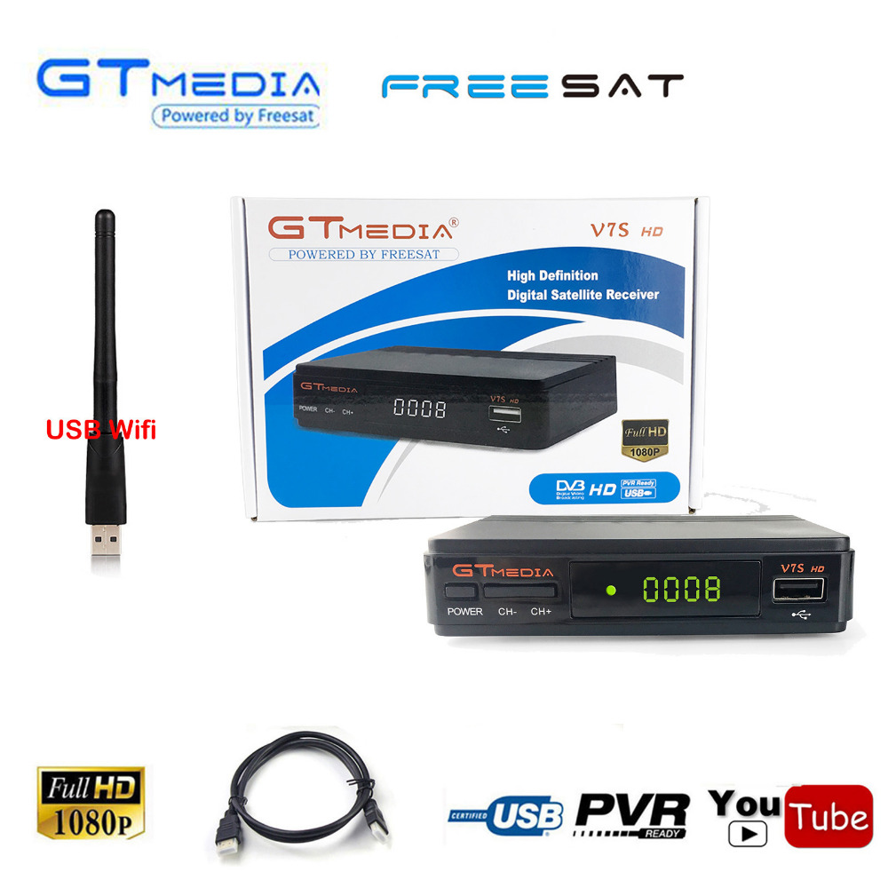 Freesat v7 V7S S/N America spain 1080P HD Digital DVB-S2 Receptor Satellite Receiver Decoder tv tuner Box IKS Cccam Biss Vu USB