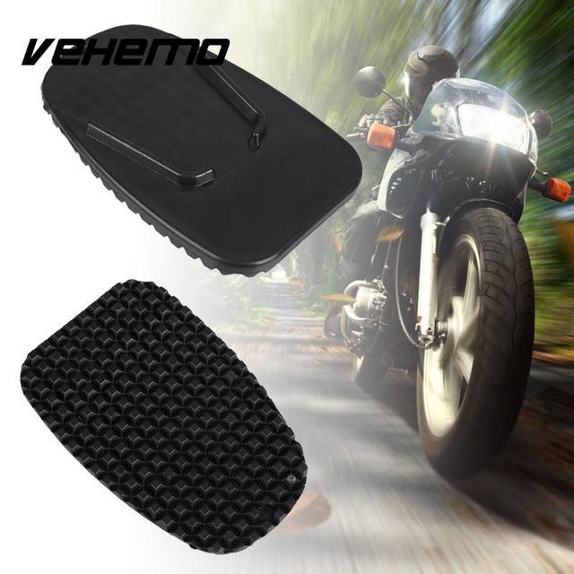 Vehemo Universal Motorcycle Kickstand Non-Slip Plate Stand Support Plastic Pad & Vehemo Universal Motorcycle Kickstand Non Slip Plate Stand Support ...