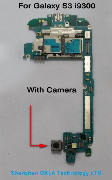 imágenes para Con cámara utilizada mainboard de la placa lógica motherboard original para samsung galaxy s3 i9300 multi idioma hk versión europa
