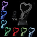 WSFS Hot USB 3D LED Table Lamp Night Light's room Night Light Christmas Gift NEW Single Heart