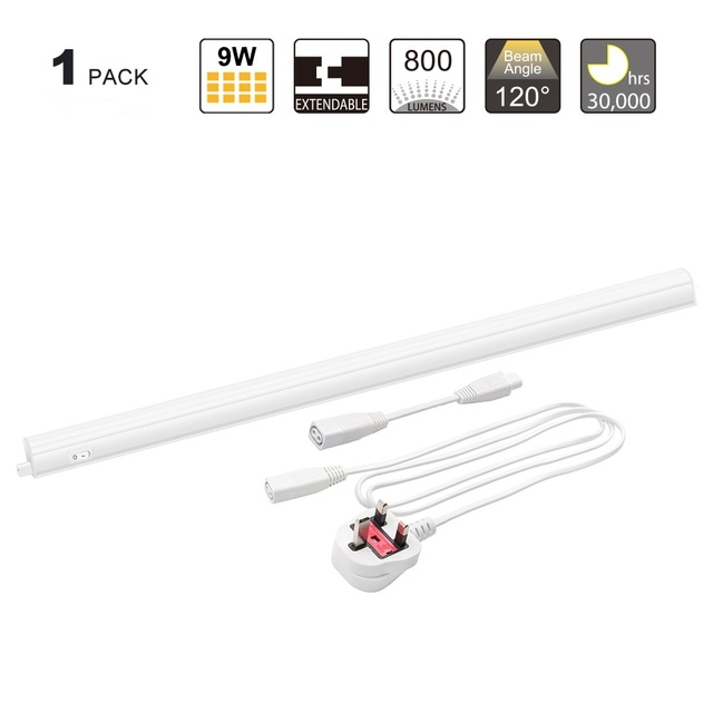 Connectible T5 9W LED Under Kitchen Cabinet Lighting Under Cupboard on under bar lighting kitchen, best under cabinet lighting kitchen, lights under cabinet light kitchen,