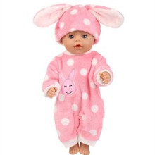 5Style Choose Warm  Doll Clothes Fit For 43cm baby Doll clothes reborn Doll Accessories
