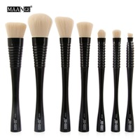 MAANGE 7Pcs Set S Waist Cosmetic Beauty Makeup Brushes Tool Kits Power Foundation Blush Eyeshadow Contour