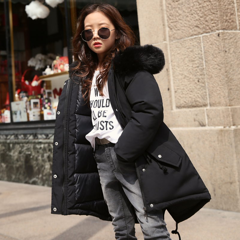 2018 Toddler Girls Winter Coat Children Jackets Cotton Parkas Kids Winter Outerwear Coats Warm Jacket Baby Girls Coat Costume 12