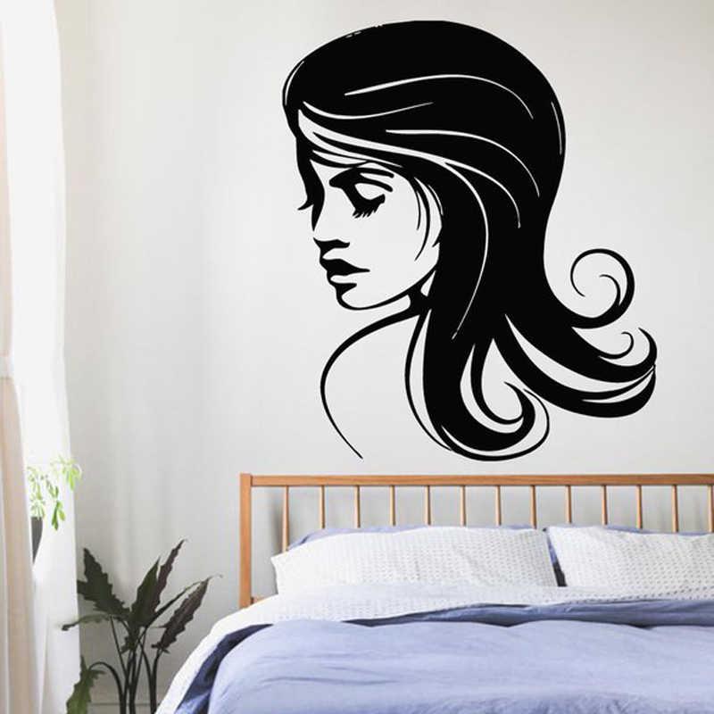 クリエイティブ美容師美容サロン理髪店diy壁紙取り外し可能なビニールホームインテリアアートウォールステッカーjg1302