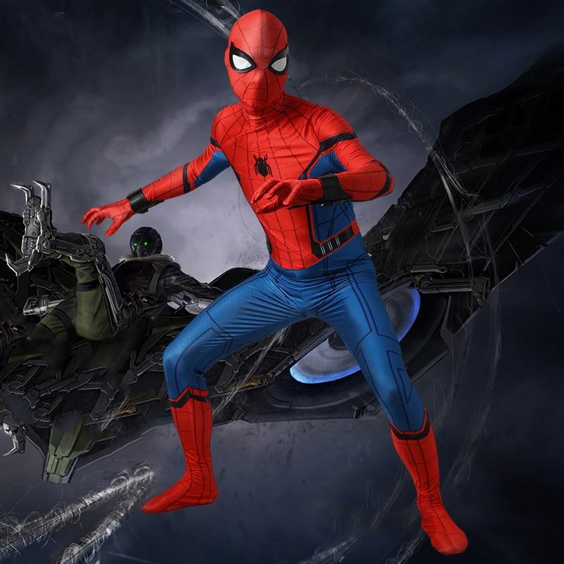 Spider Man Cosplay Costume Peter Benjamin Parker Spider Man Homecoming Cosplay Outfit Halloween Superhero Spiderman Costume