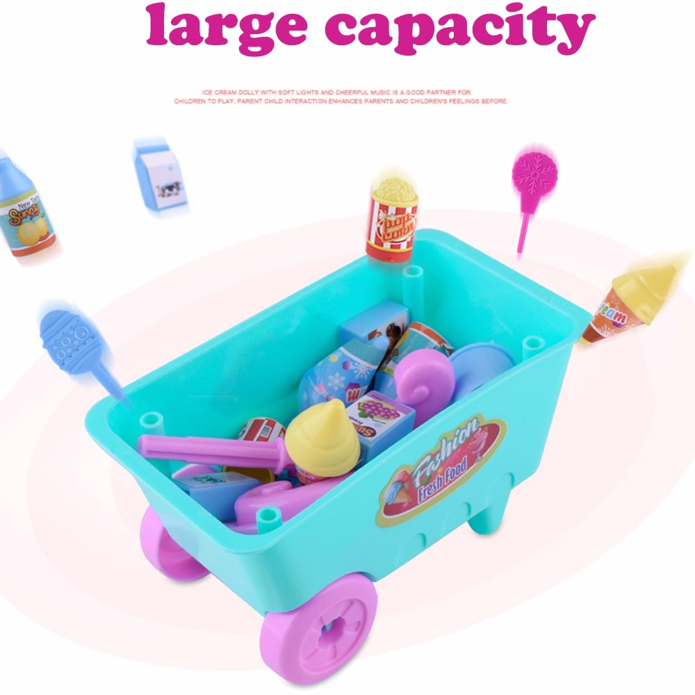 MuqGew kitchen girls toys Gift Ice Cream Cart Play Set Kids Pretend ...