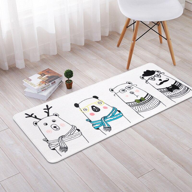 Cartoon Animals Bear for Living Room Bedroom Home Decor Carpet Rug Children Kids Soft Play Mat 50x120cm