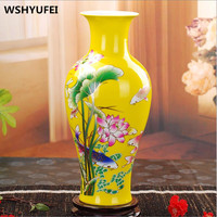 Chinese Style Classical Porcelain Flower Vase Home Decoration Jingdezhen Good Quality Handmade High Clay Ceramic Vases Wedding
