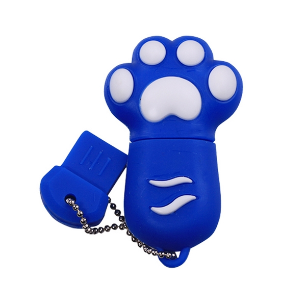 HOT Cartoon Usb Cat Claw Cle USB Flash Drive Memory Pen Drive Stick Key 2.0 8GB 16GB 32GB 64GB 128GB 256GB 512GB Pendrive Gift