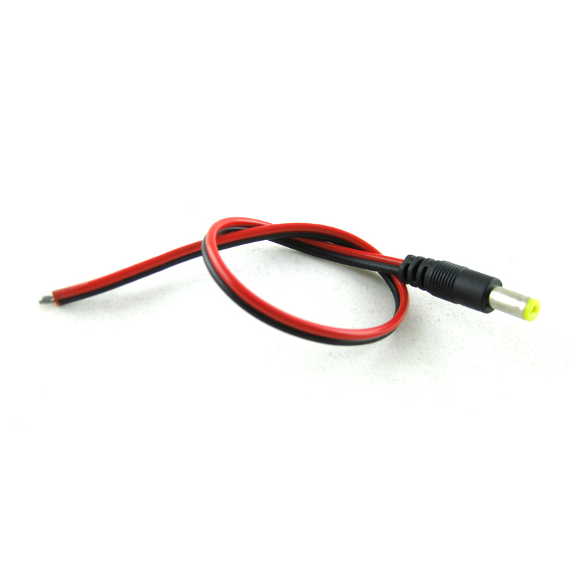 10pcs 2.1x5.5 Mm Male Plug 12V DC Power Pigtail Cable Jack For CCTV Security Camera Connector