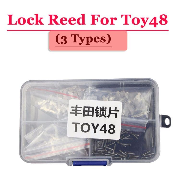 Free Shipping (120pcs/box ) Toy48 Car Lock Reed Locking Plate For Toyota Car (each Type 40pcs) Repair Kits