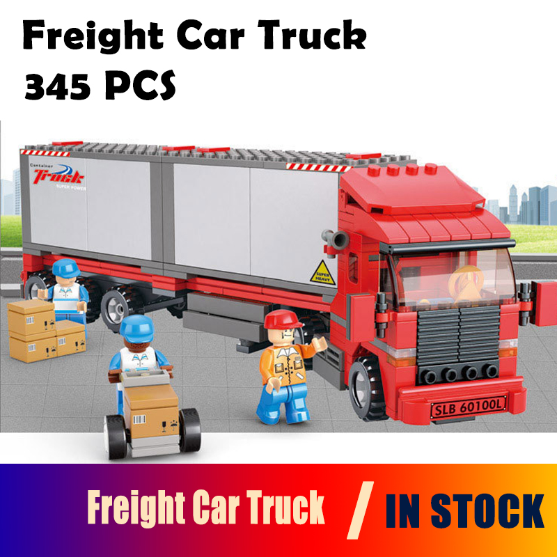 Model building kits compatible with lego city truck 0338 3D blocks Educational model & building toys hobbies for children