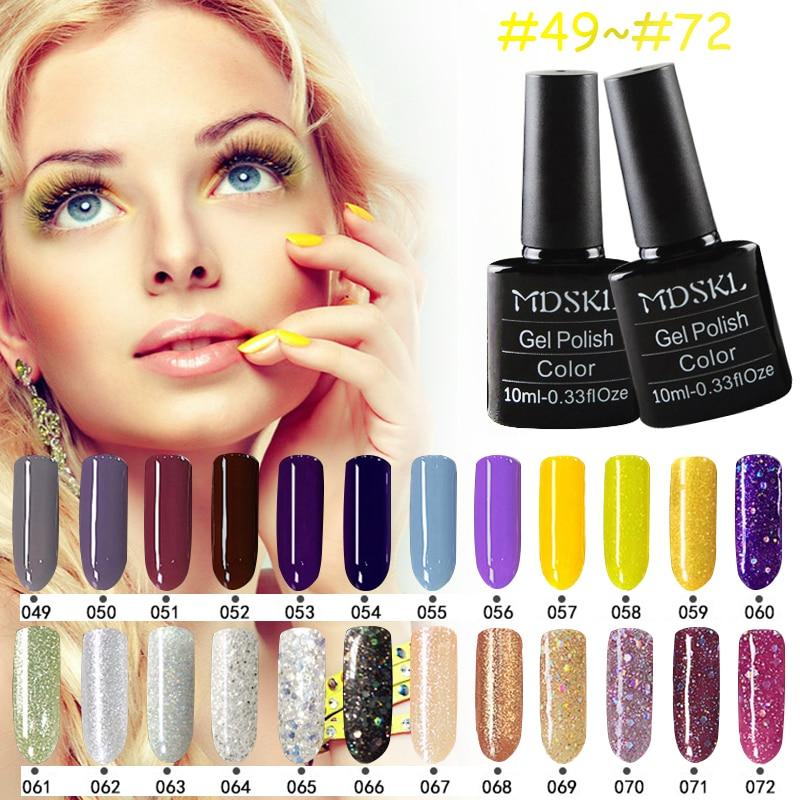 MDSKL 132 Colors Gel Nail Polish Long-lasting Soak-off Gel Varnishes Beauty Gel Lacquer UV Lamp or LED Lamp Nail Varnish