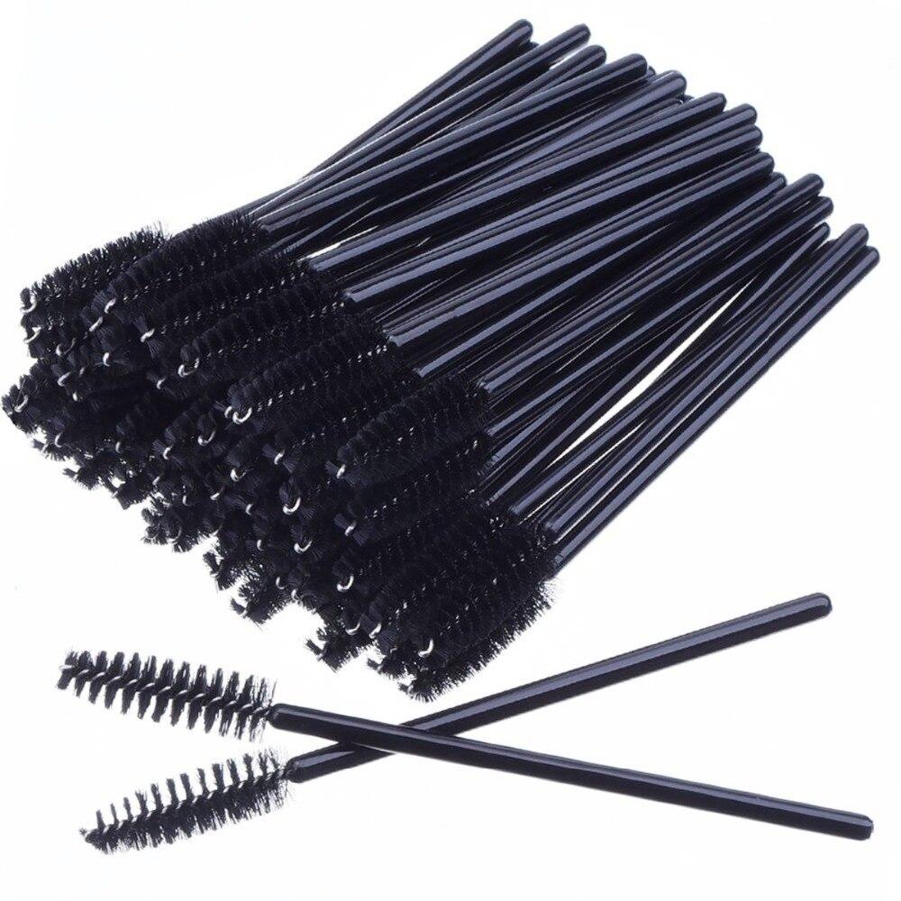 Güzellik ve Sağlık'ten Göz Farı Aplikatörü'de 2000 adet/grup Siyah Kirpik Fırçalar Makyaj Fırçalar Tek Kullanımlık maskara fırçaları Aplikatör Göz Lashes Ucuz Makyaj Araçları'da  Grup 1