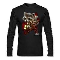 Contorto Razzo uomini Blu t shirt Design t-shirt WithEvil musicale Unico Panda Uomini del Manicotto Pieno Abiti In Tessuto