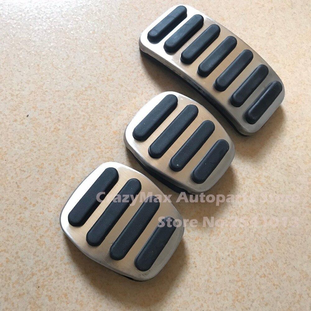 Dee acessórios do carro de aço inoxidável acelerador pedal freio gás para volvo s40 v40 c30 at, não deslizamento placa pedal almofadas estilo