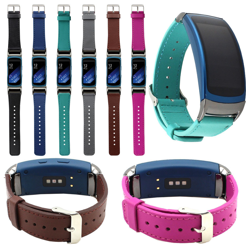 NEW Leather Replacement Watch Band Wrist Strap Film For Samsung Gear Fit2 SM R360 High Quality
