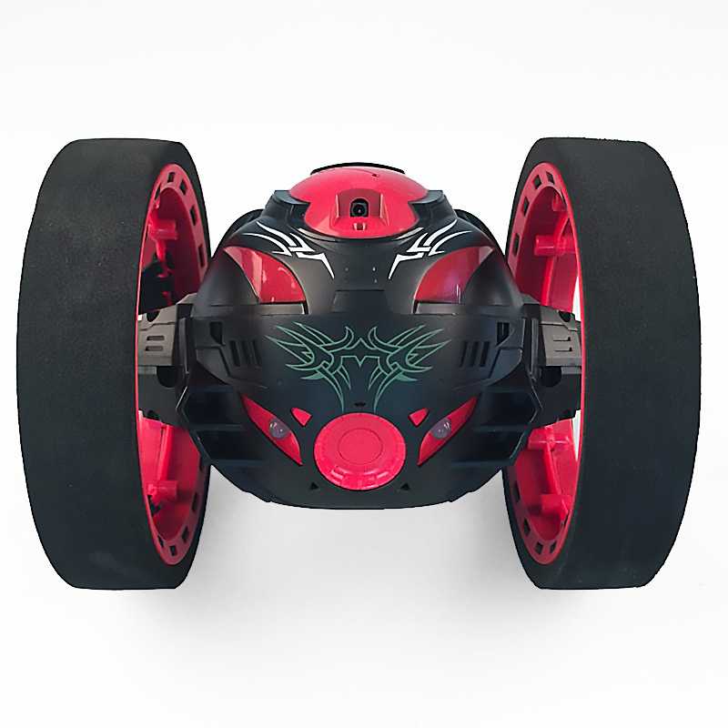 New toys remote control two-wheel car 2.4G frequency car with a flexible rotating wheel led lights remote control robot