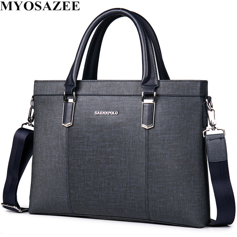 MYOSAZEE Classic Design Male PU Leather Briefcases Men Casual Business Bags Male Office Briefcase Bags Laptop