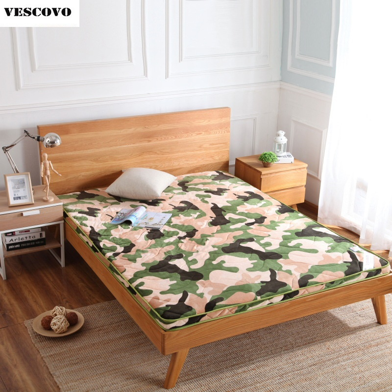 6 cm thickness flannel velvet camouflage mattress tatami hotel tatami mat mattress bedding Home Textile