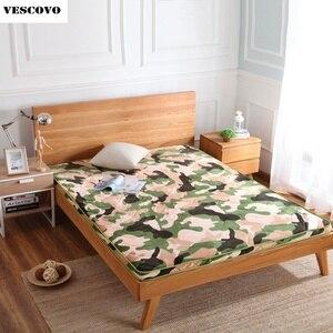 Image 1 - 6 cm épaisseur flanelle velours camouflage matelas tatami hôtel tatami tapis matelas literie Textile à la maison
