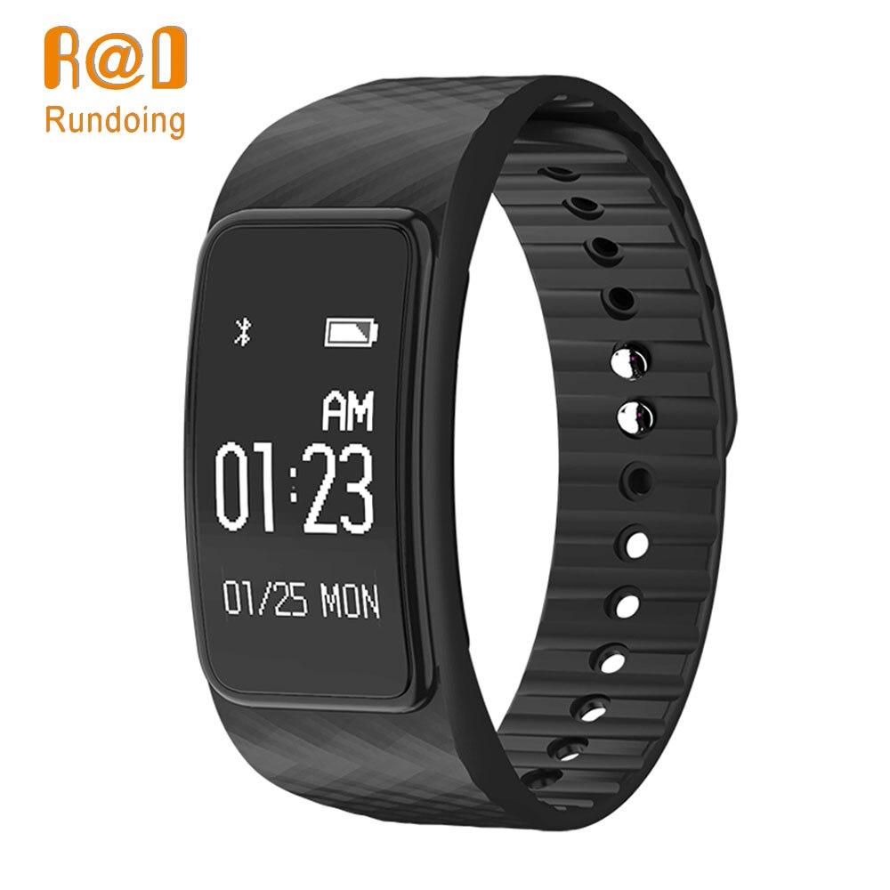 Rundoing N101 smart wristband Heart Rate Monitor smart braccialetto IP67 impermeabile Inseguitore di Fitness banda intelligente smartband