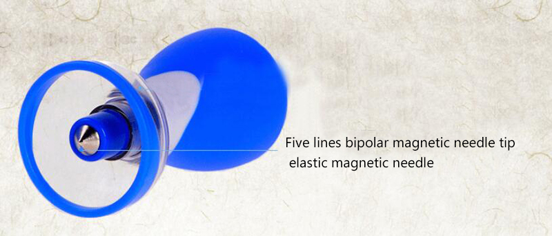 Les nouvelles cinq lignes d'aiguille bipolaire aimant aiguille six ménage ventouses acupuncture dispositif de ventouses therapy-wxz1 magnétique - 5
