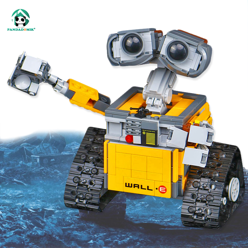 Pandadomik Wall Robot Movie Building Blocks Action Toy Figure Kids Toys for Children 16003 Assemble Toy Bricks Compatible lepin wisehawk nanoblocks toy story super mario woody buzz bulleye action figure movie cartoon model diy diamond micro building bricks