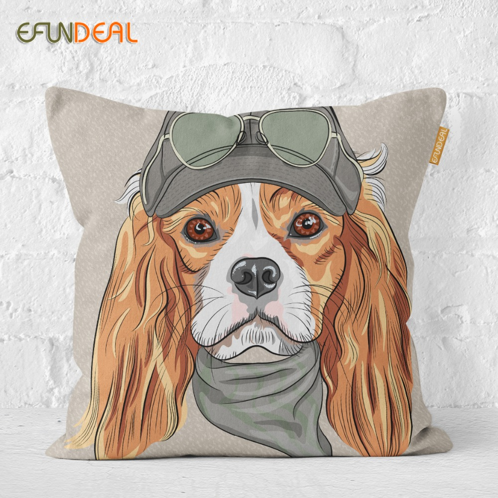 Home Decorative Cushion Cover Pillow Case Dressed Up Dogs Cute Cartoon Cushions Case For Sofa Couch Bed Chair 45*45cm/60x60cm