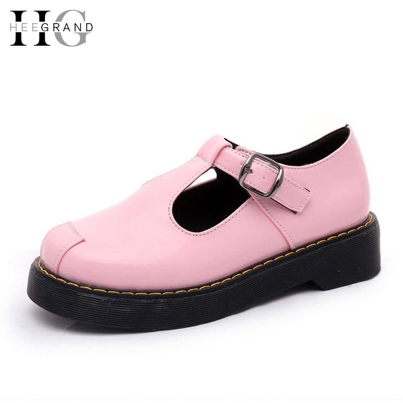 Pink font b Women b font Brogue Shoes Platform Oxfords Shoes font b Woman b font