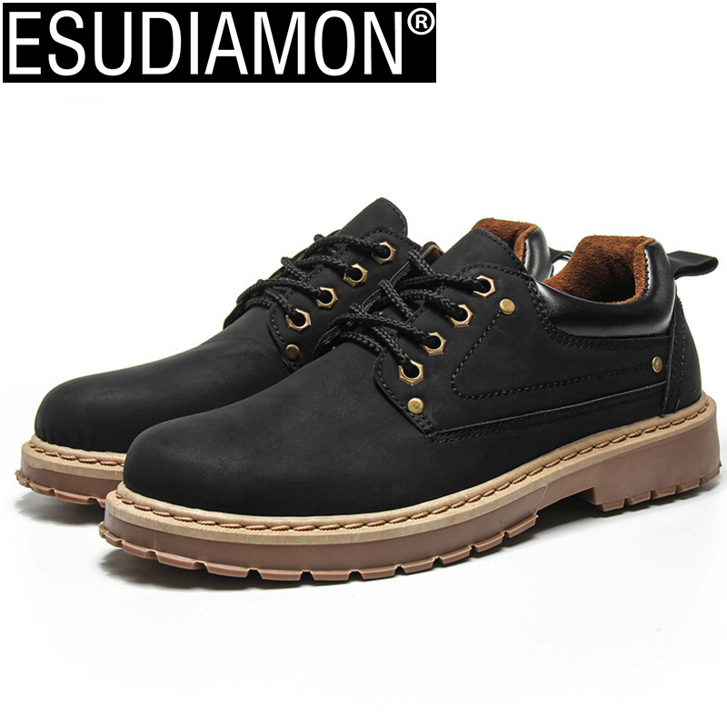 ESUDIAMON Hot Sale Casual Shoes Men Spring Autumn Solid Lace-up Man Fashion Flat Breathable Oxford Shoes Quality Work Footwear new 2016 medium b m massage top fashion brand man footwear men s shoes for men daily casual spring man s free shipping