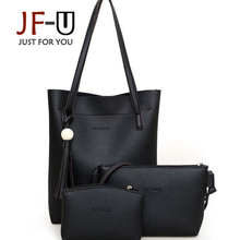 JF-U 3 Bolsas Set de Lujo Mujeres de Los Bolsos Diseñador de Las Mujeres Bolsos de Cuero Bolsa de Hombro Femenino bolsa feminina
