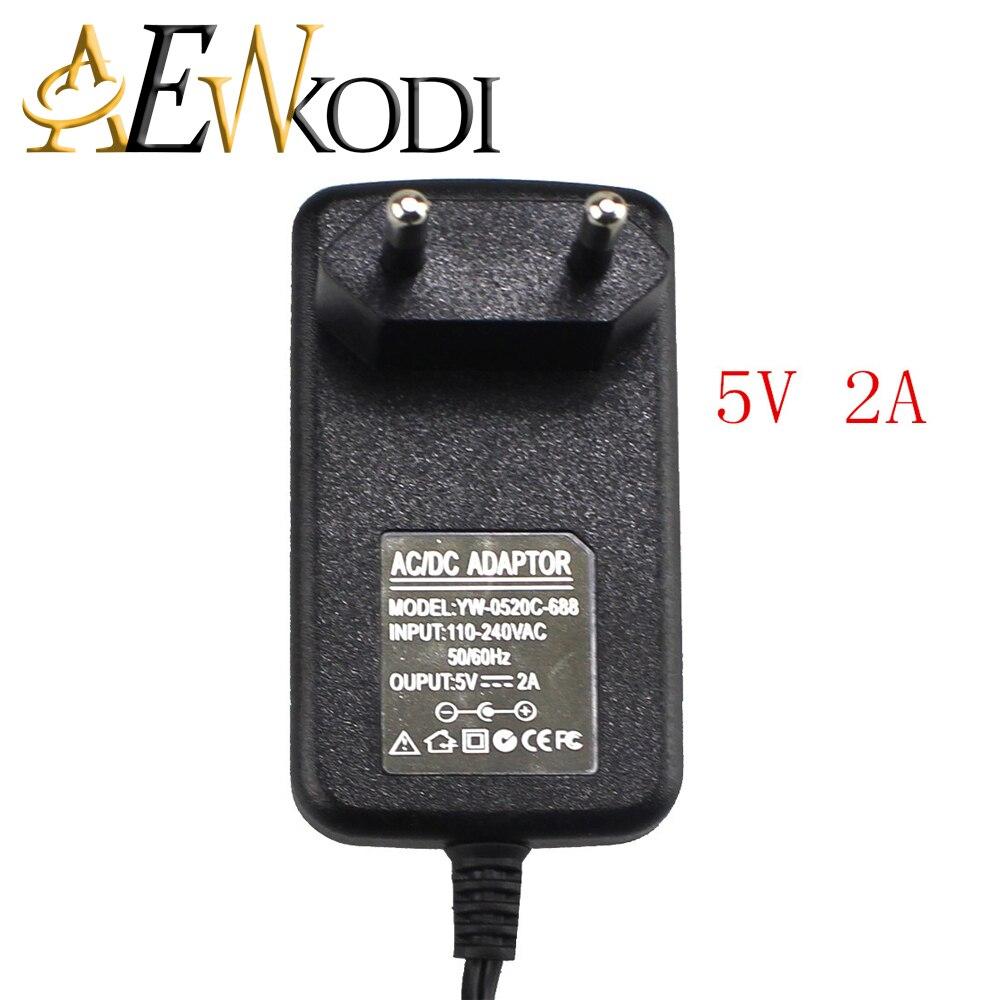 22306d52505 5 Pcs DC 5 V 2A AC 100 V-240 V Conversor Adapter5.5x2.1mmPower Plug de  Alimentação DA UE Para MX