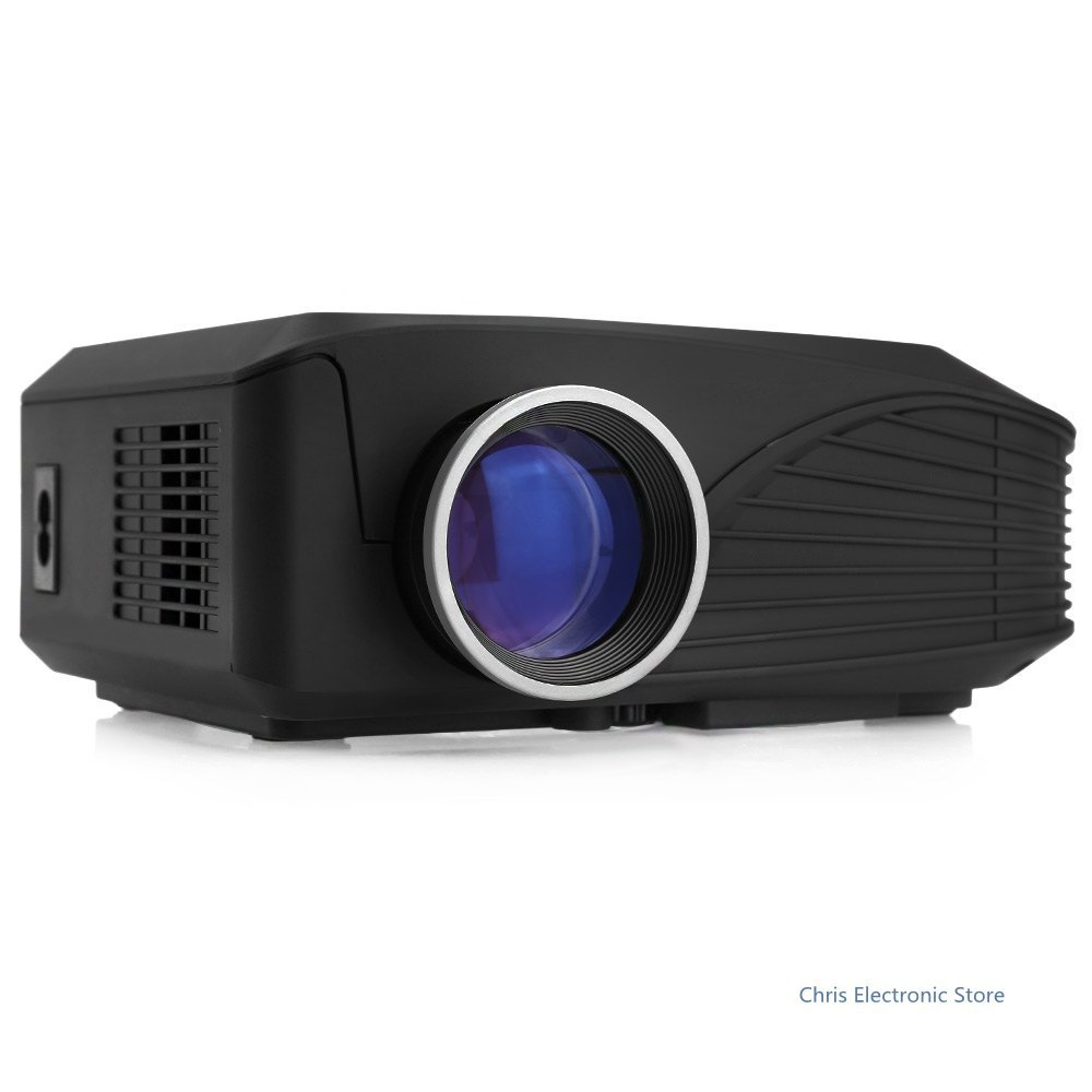 H809 LED Projector 1000LM 800 x 600 Pixels for Dance Halls / Home Theater / Entertainment with TF Card / USB / HDMI / VGA Input