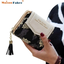 Excellent Quality Women Wallet Leather Vintage Womens Bifold Money Bag Card Holder Bifold Female Wallet Purse Clutch Card Holder
