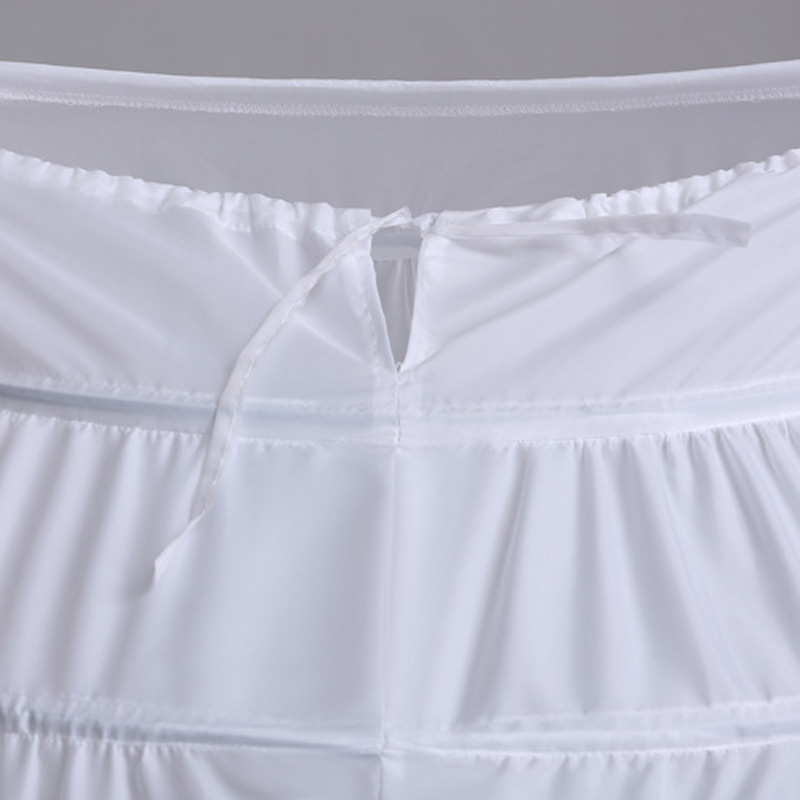2016 High Quality White 6 Hoops Petticoat Crinoline Slip Underskirt - Үйлену керек-жарақтары - фото 3