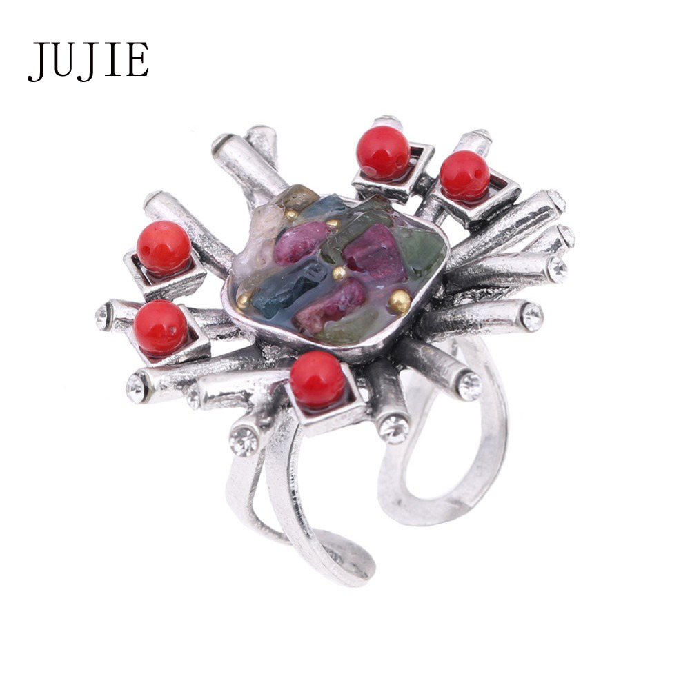 JUJIE Fashion Wedding Rings Kristal Batu Untuk Wanita 2019 Perhiasan Dropshipping
